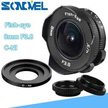 8mm F3.8 Fish-eye CCTV Lens Manual Wide Angle Fisheye Lens Focal length Fish eye Lens Suit For Nikon 1 AW1 S2 J4 V3 J3 V1 J1 J2