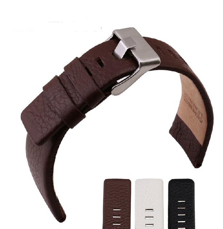 BANDA marca DZ4216/1405/1542/4210/4296 New Top Couro Genuíno Watchband 22 24 26 28 30mm Relógios Banda Cinto Cinta Frete Grátis