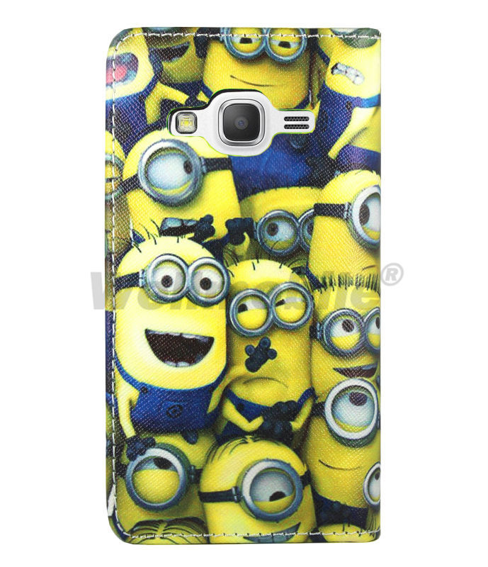 best sneakers 10b14 46970 US $3.95  Wellmobile Despicable Me 2 Minion Leather Book Wallet Bag Case  Cover For Samsung Galaxy Core Prime (G360F, G360G, GY, HU, M, P) on ...