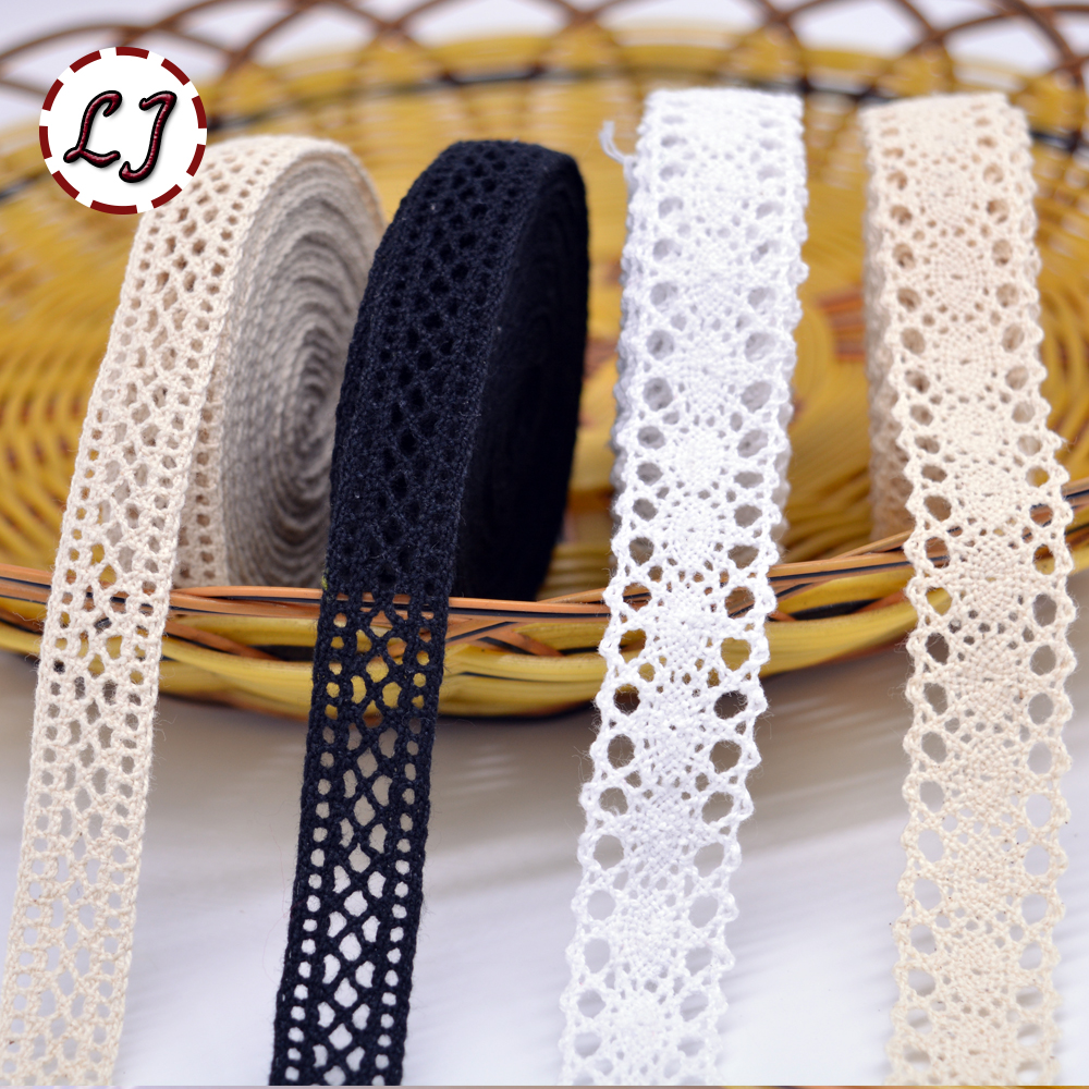 New arrived 5yd lot high quality beige lace fabric ribbon for Cotton sewing material