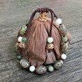Handmade Original Design Tibetan Bead Natural Agate Buddhist Prayer Beads Shambala Bracelet Charm Bangle Fashion Jewelry