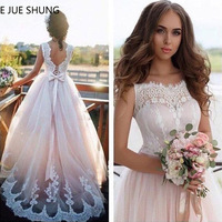 E JUE SHUNG Vintage Lace Backless Boho Wedding Dresses 2019 Beach Bride Dresses robe de mariee vestidos de novia