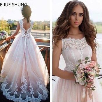 2a668e696 E JUE SHUNG de encaje Vintage de boda Boho vestidos 2019 playa vestidos de  novia vestido de mariee vestidos de novia