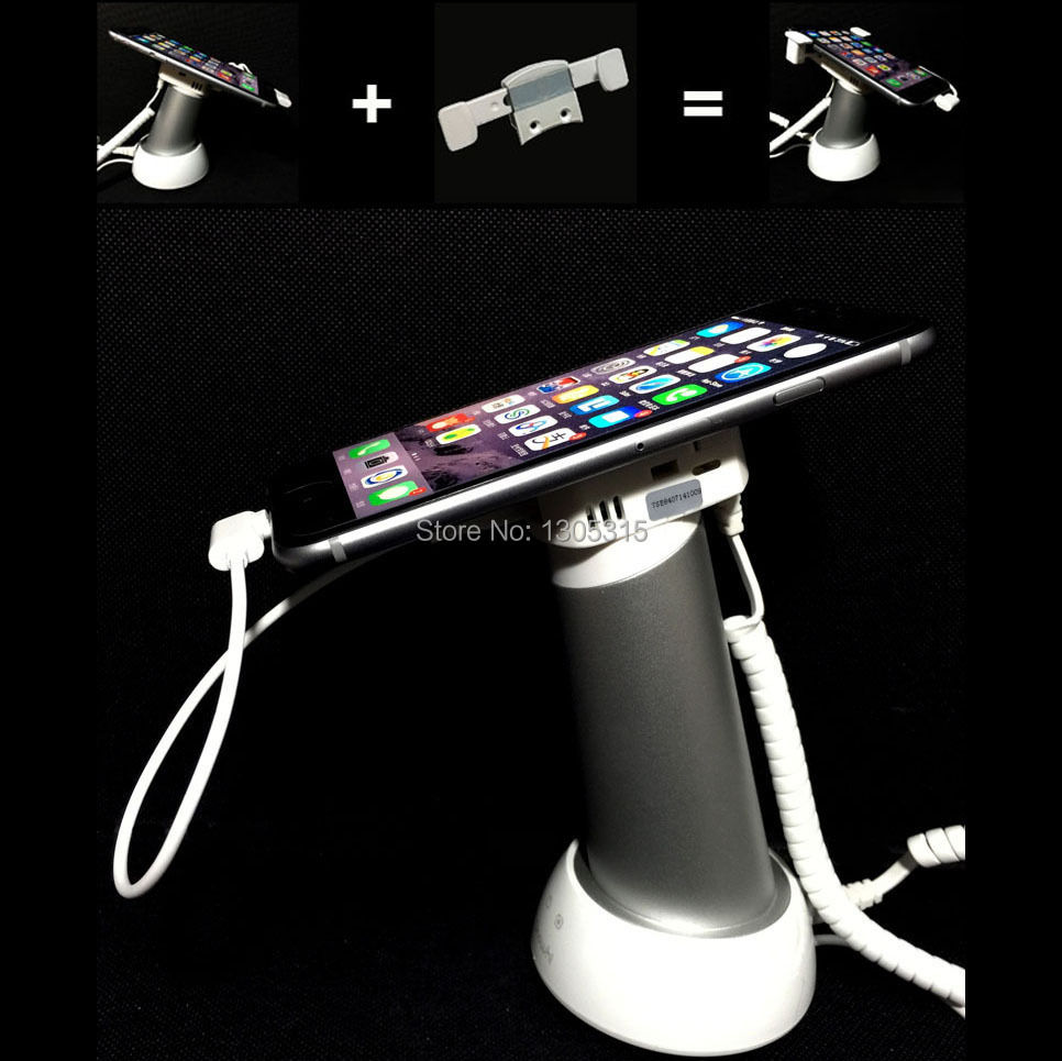ФОТО 10xCell phone security display,Iphone alarm anti-theft holder,Samsung display stand system with detachable bracket charging