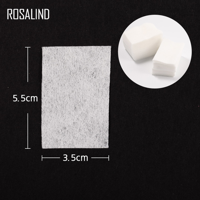ROSALIND Nail Polish Remover Gel varnishes Remover Soak Off Cap Clip Lint-free Wipes Cleaner Degreaser for Polish Gel UV