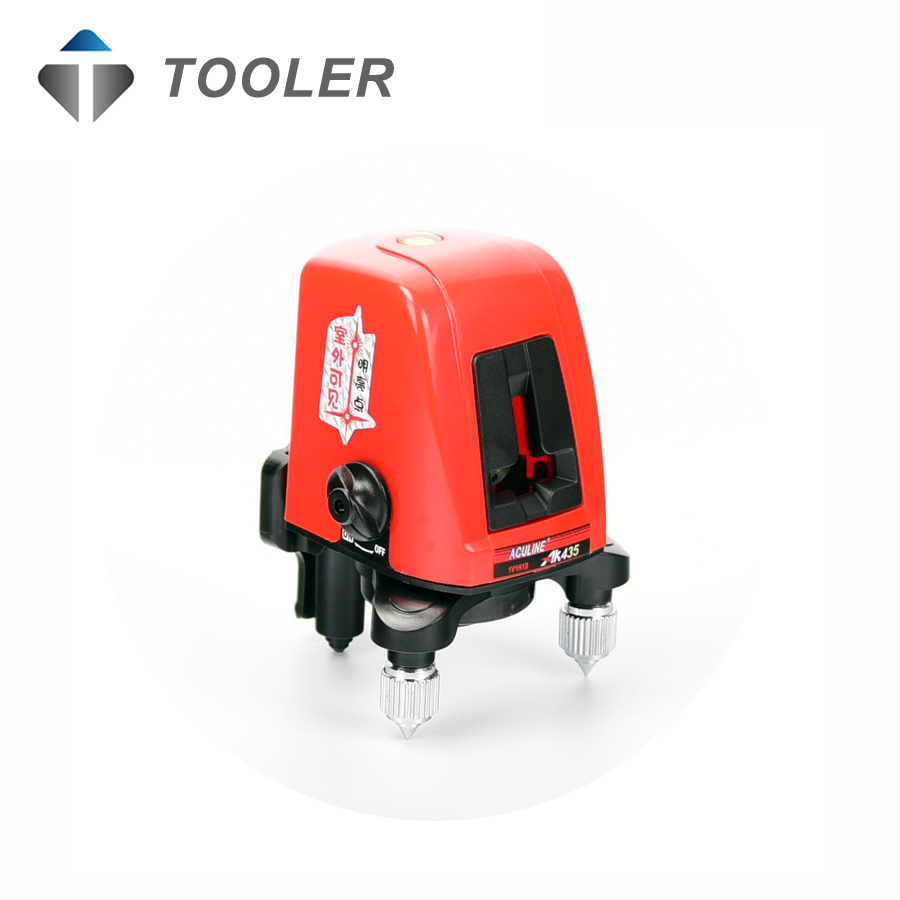 AK435 360degree self- leveling Cross Laser Level 1V1H Red 2 line 1 point HOT SALE стоимость