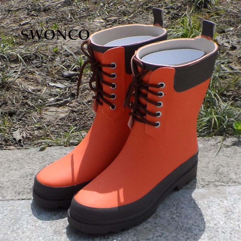 Aliexpress Com Buy Swonco Women S Rain Boots 2018 Spring