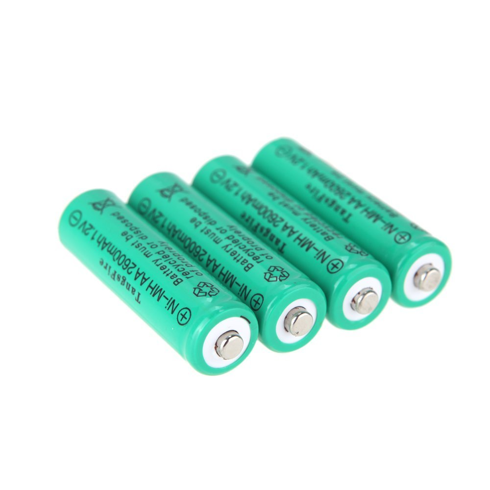 TangsFire 4 x 2600 mAh 1.2 V AA Rechargeable Ni-MH Battery for Rechargeable Battery Light Torch LED Flashlight