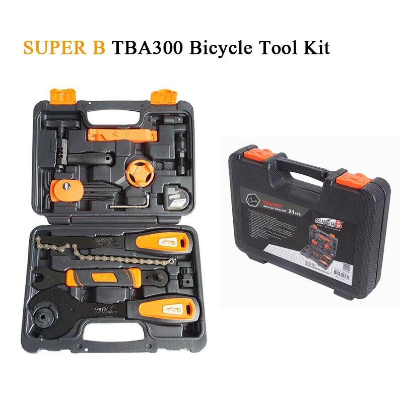 Taiwan Super B TBA300 Bicycle Tool Kit Bike Repair Tools Professional for MTB Road Bike BMX for cassett lockrings professional super b mtb bike bicycle freewheel dismantling spanner wrench remover repair tool