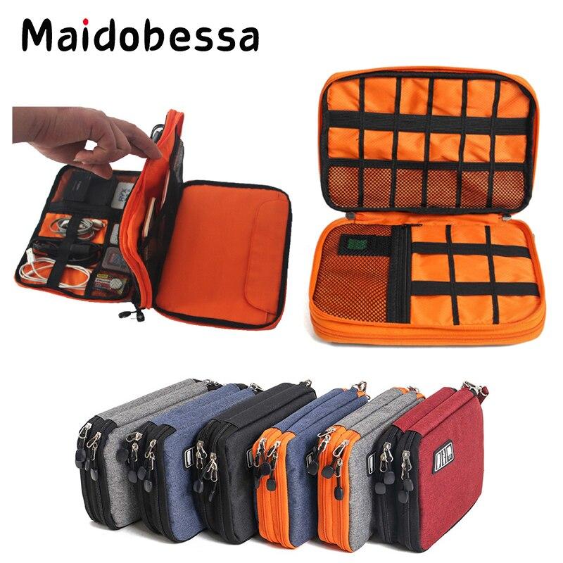 Maidobessa Digital Storage Bag Waterproof for Ipad Organizer USB Data Cable Earphone Wire Power Bank Travel Storage Package