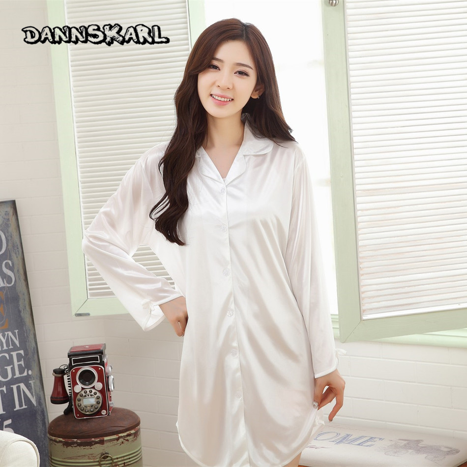 Dannskarl New Sexy Womens Sleepshirts Ice Silk Temptation -3123