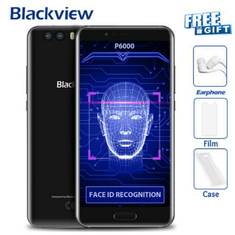 Blackview P6000 Face ID Smartphone Helio P25 6180mAh Super Battery 6GB 64GB 5.5 FHD 21MP Dual Cams Android 7.1 4G Mobile phone