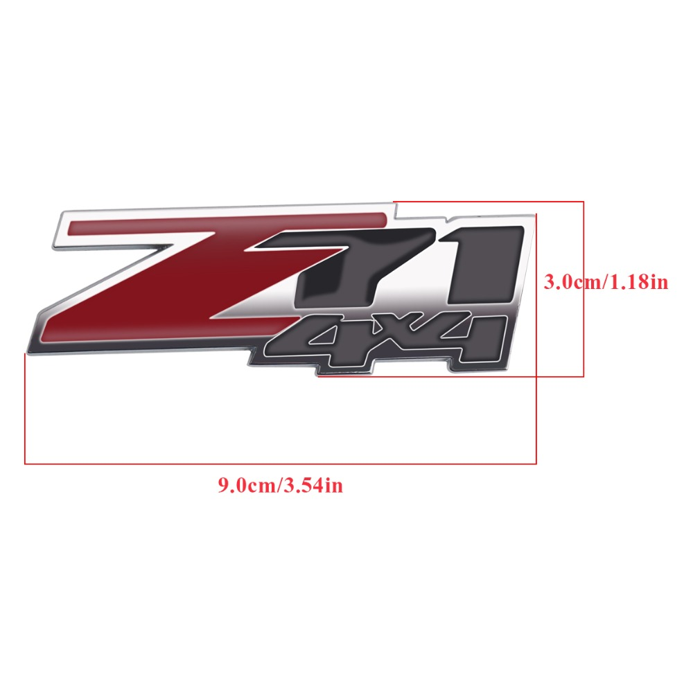 3d z71 4x4 badge emblem car sticker for chevrolet chevy gmc silverado auto vehicle whole body 9x3cm decal stickers in car stickers from automobiles