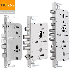 Security door stainless steel lock body ,pitch size 6068, for Intelligent fingerprint, Lift up, lock& Push down, open