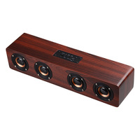 FDGAO Wooden bluetooth Speaker Portable Wireless Soundbar Bass Music Box Subwoofer Stereo Wireless Speakers for Phone PC