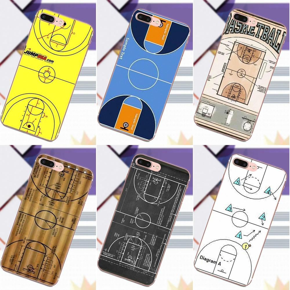 Basketball Court    Diagram    Soft TPU Accessories Case For