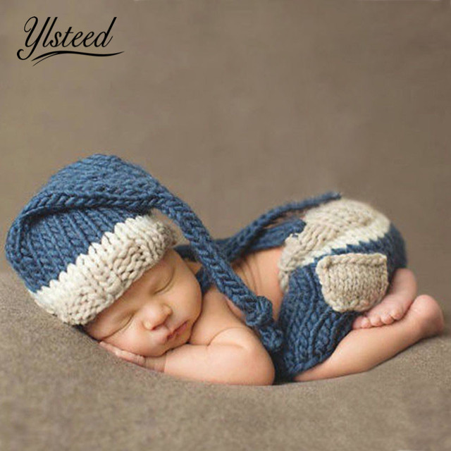 Crochet Baby Outfits New Born Baby Boys Clothes Set Knitted Hat With