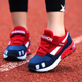 2017 Children Casual Shoes Boys and Airls Comfortable Elastic Air Cushion Shoes Fashion Kids Sneakers Breathable Sport Shoes