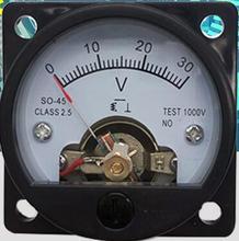 1 قطعة تيار مستمر 100mV 3 فولت 5 فولت 10 فولت 15 فولت 30 فولت 100 فولت 150 فولت 300 فولت المسمار شنت الجهد عداد لوحة الفولتميتر SO 45panel meter voltmeterpanel metervoltage panel meter