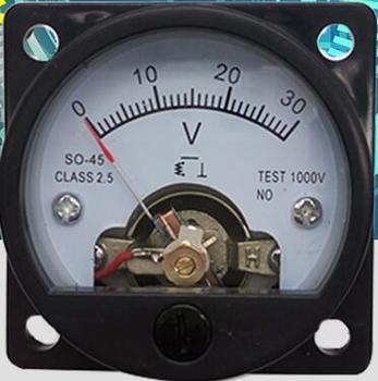 1 PC DC 100mV 3 V 5 V 10 V 15 V 30 V 100 V 150 V 300 V panneau de tension monté sur vis voltmètre SO 45|panel meter voltmeter|panel meter|voltage panel meter -