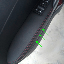 For VW Polo 2011 2012 2013 2014 2015 2016 Only Hatchback Microfiber Leather Door Handle Armrest Panel Decorative Cover