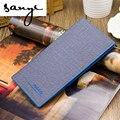 A Nova Edição 2016 Han Homem Magro Tendência de Longo Carteira Carteiras Borda Azul da Cor do Contraste