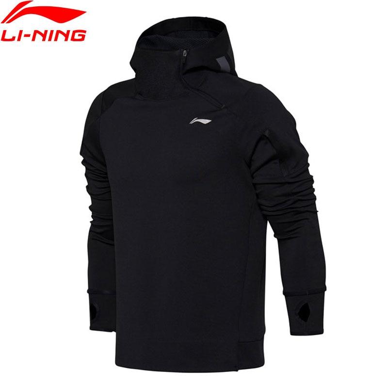 Li-Ning Men Training Series Hoodie Sweater Regular Fit 91% Polyester 9% Spandex LiNing Sport Hooded Sweater AWDM653 MWW1354