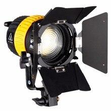 80W LED זרקור וידאו עבור סטודיו צילום מצלמה רציף תאורה דו צבע 3200K/5600K דימר V הר מיני רך אור