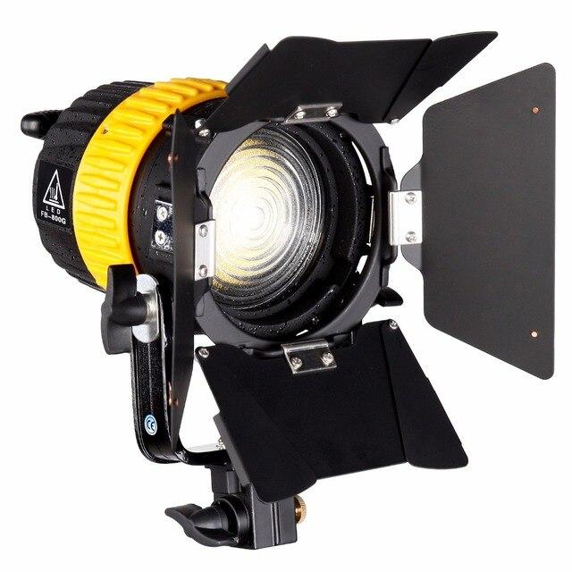 80W LED wideo Spotlight dla fotografia studyjna kamera ciągłe oświetlenie Bi kolor 3200K/5600K ściemniacz V do montażu na MINI miękkie światło