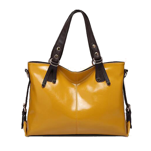 Factory Outlet Handbag Classic Women Famous Brand Bags Luxury Candy Color Womans Leather Genuine Yellow