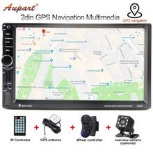 Автомагнитолы 2 din gps 7-дюймовый сенсорный экран радио Автомобильный мультимедийный плеер автоматическое радио gps навигации mp5 Аудио Стерео 7020G
