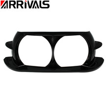 купить Motorcycle Dual Headlight ABS Fairing Trim Bezel Scowl Cover For Harley Touring Road Glide Customs 2015 2016 2017 2018 дешево
