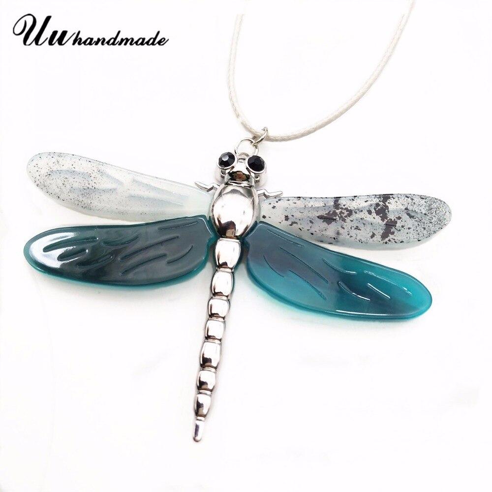Collar de libélula colgante de insectos pingente aleación de Zinc joyería de moda para mujer declaración colar Collar femenino accesorios 2018