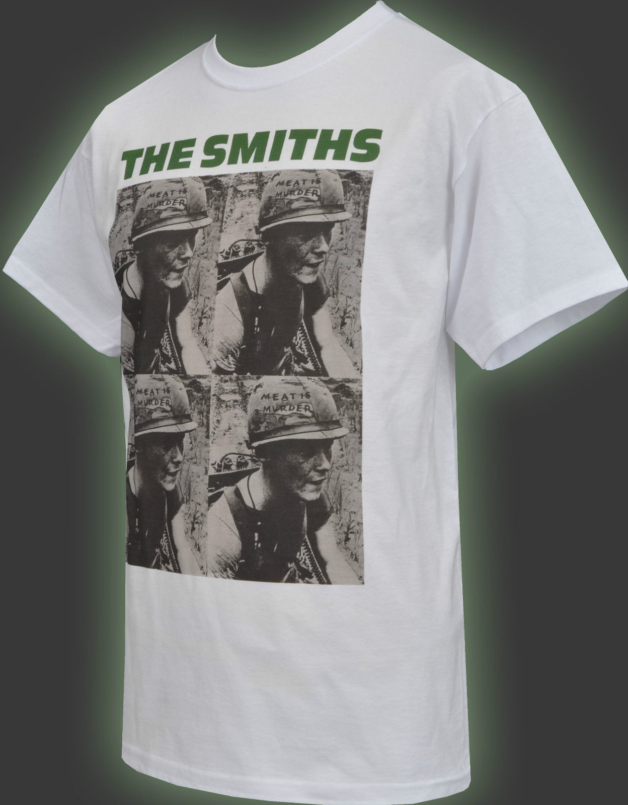 5XL MENS WHITE T-SHIRT THE SMITHS MEAT IS MURDER ARMY VEGAN MORRISSEY S