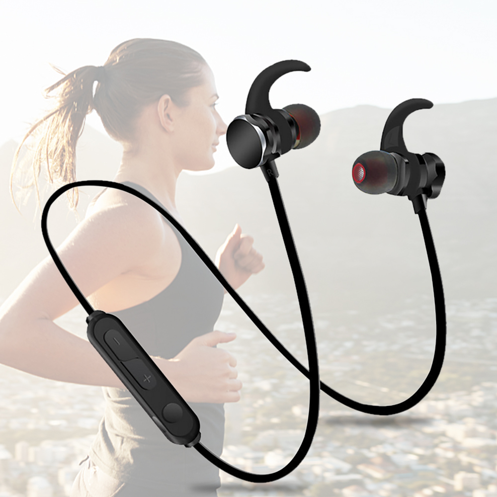 Bluenin Headset Bluetooth Wireless Earbuds Sport in ear headphones with Mic Magnetic Stereo ear phones for huawei mate 10 lite