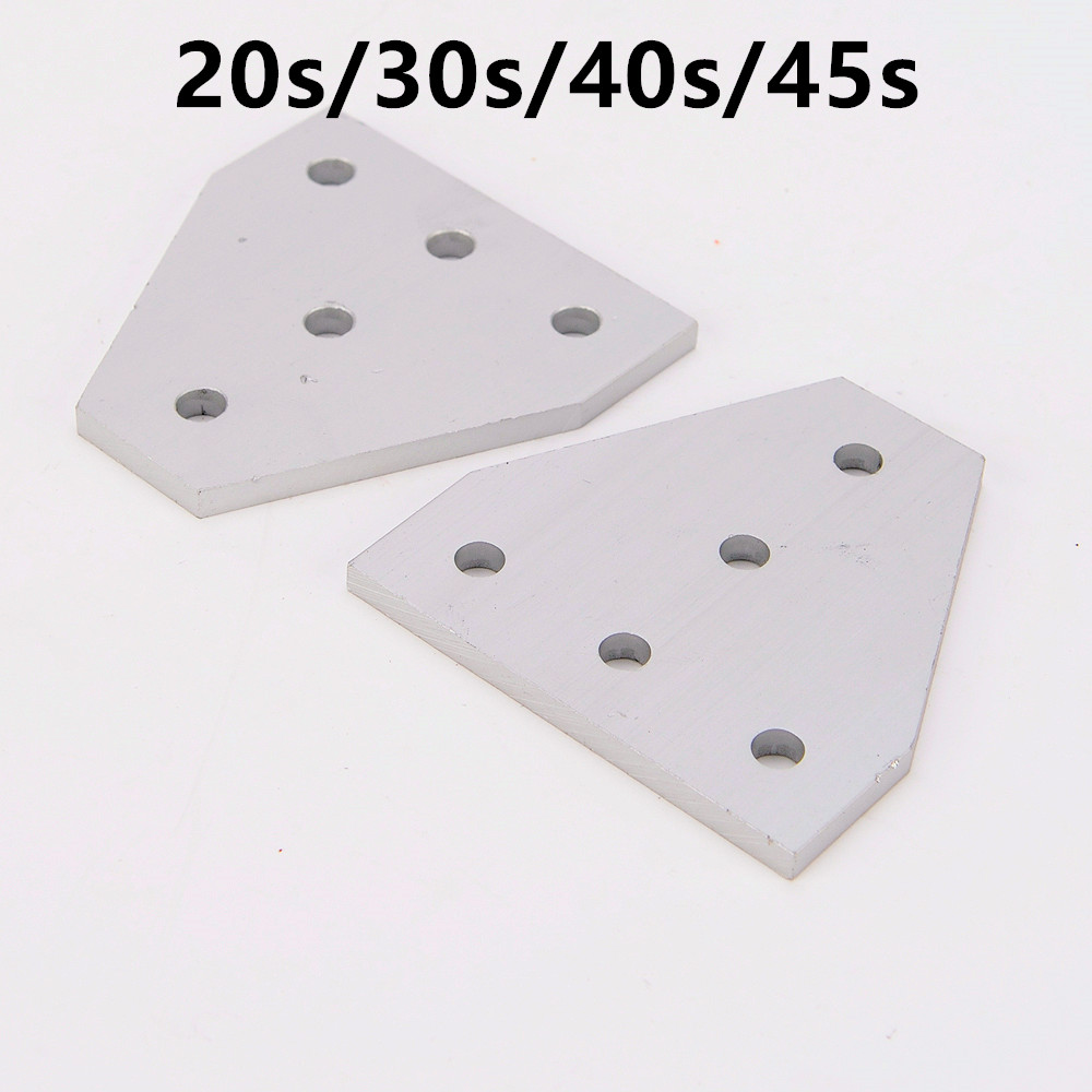 Strong Corner Angle Bracket Connection Joint Strip Board for Aluminum Profile 2020 3030 4040 4545 with 5 holes aluminum profile aluminum strip for ceiling film install