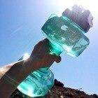 2.5L Гантели Shaped Бутылка Воды Пластиковые Большой Емкости Тренажерный Зал Мачо Спортивное Оборудо ①