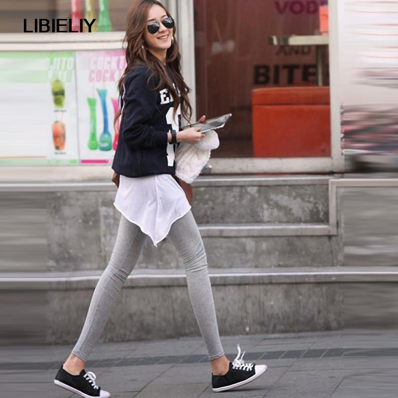 Nice Nice Spring Summer Outer Wear Leggings Pants Plus Size Lady Students Modal Footless Slimming Foot Pants woMen Clothing