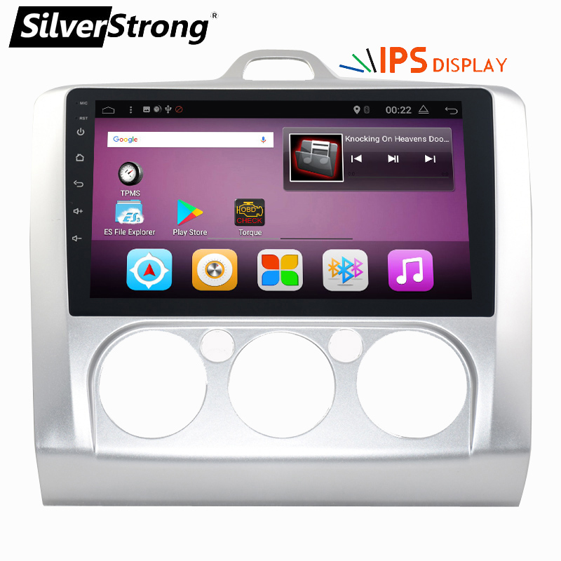 SilverStrong Car Multimedia Player Android 7.1 2din GPS Per Ford Focus2 IPS schermo Wifi Radio FM Stereo Sistema di 1 gb 16 gb