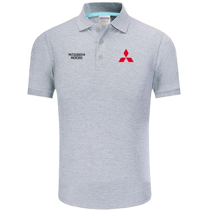 High quality logo crocodil Mitsubishi logo   Polo   classic brand Men   Polo   Shirt Men Casual solid Short Sleeve cotton   polos