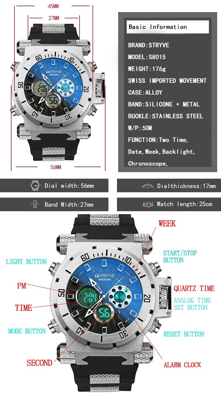 luxo relógio para homens presente led retroiluminação reloj hombre