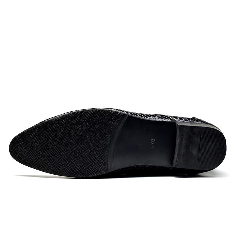 Men's Shoes Cosidram Men Shoes Fashion Snake Skin Designer Leather Shoes Mens Business Dress Classic Shoes Pointed Toe Formal Shoes Shb-004 Formal Shoes