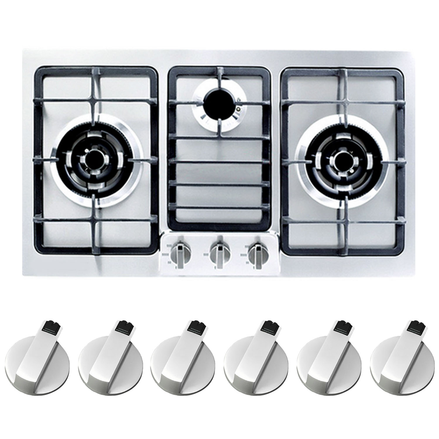 4 Pieces Cooker Control Knobs Metal Gas Stove Knob For Ovens Cookers And Hobs