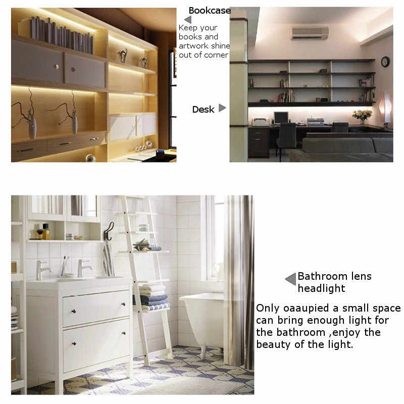Клаит 4 шт. 50 см 5730SMD 30 светодиодный светильник под шкаф комплект 1000LM 10 Вт Светодиодная лента для под кухонный шкаф лампа