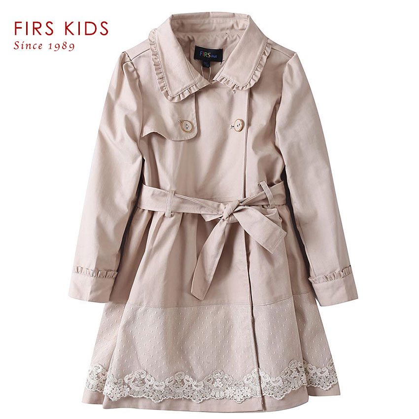 Spring Autumn children trench  girls Coat Outwear Children's Jackets Clothes   Infants Outerwear Girl Hoody Cardigan Trench Coat 2017 new british children s jacket girl autumn children beautiful cowboy trench coat autumn