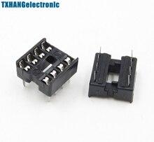 100PCS 8pin DIP IC Socket Adaptor Solder Type Socket Pitch Dual Wipe Contact 100pcs ua741cn ua741 lm741 op amp compensation type dip 8