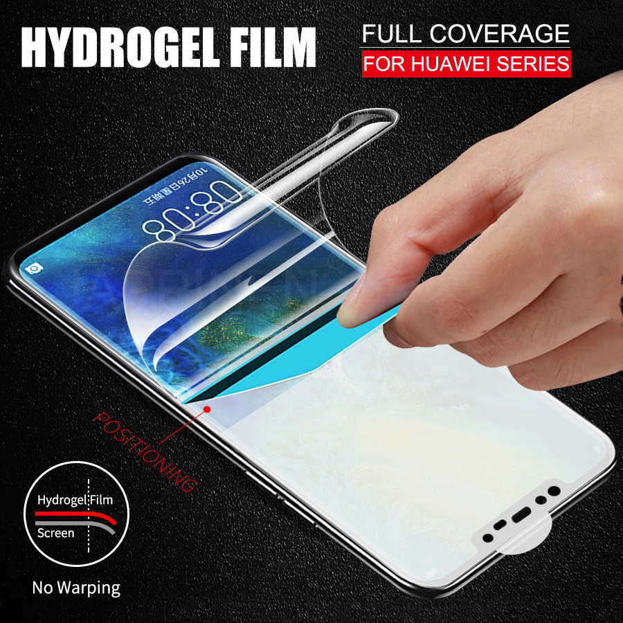 3D Full Cover Screen Protector TPU Film For Huawei P20 Mate 20 P30 Pro Mate 10 Lite Honor 10 View 20 8X Soft Clear Hydrogel Film