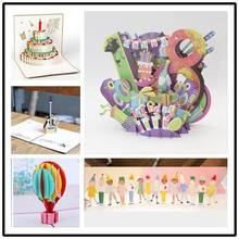3D 18-year-old coming-of-age ceremony paper Greeting Card wish Thanksgiving Card Postcard party Invitation birthday pop up card
