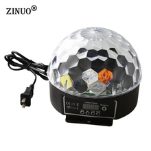 ZINUO LED Stage Lamps 20W DMX512 Disco Stage Lighting Digital LED RGB Crystal Magic Ball Effect Light