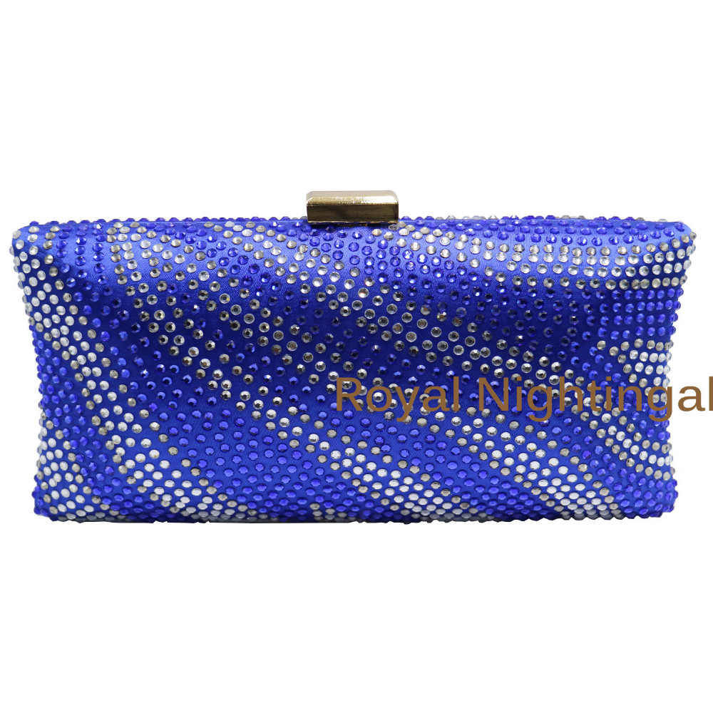 281b75d6a11 Royal Blue Crystal Evening Bags and Clutches with Rhinestone Crystal  Diamond for Wedding Prom Evening Party Crystal Box Clutch